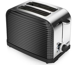 TOWER Linear T20007 2-Slice Toaster - Black