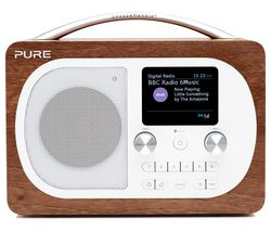 PURE Evoke H4 Portable DAB/FM Bluetooth Clock Radio - Walnut