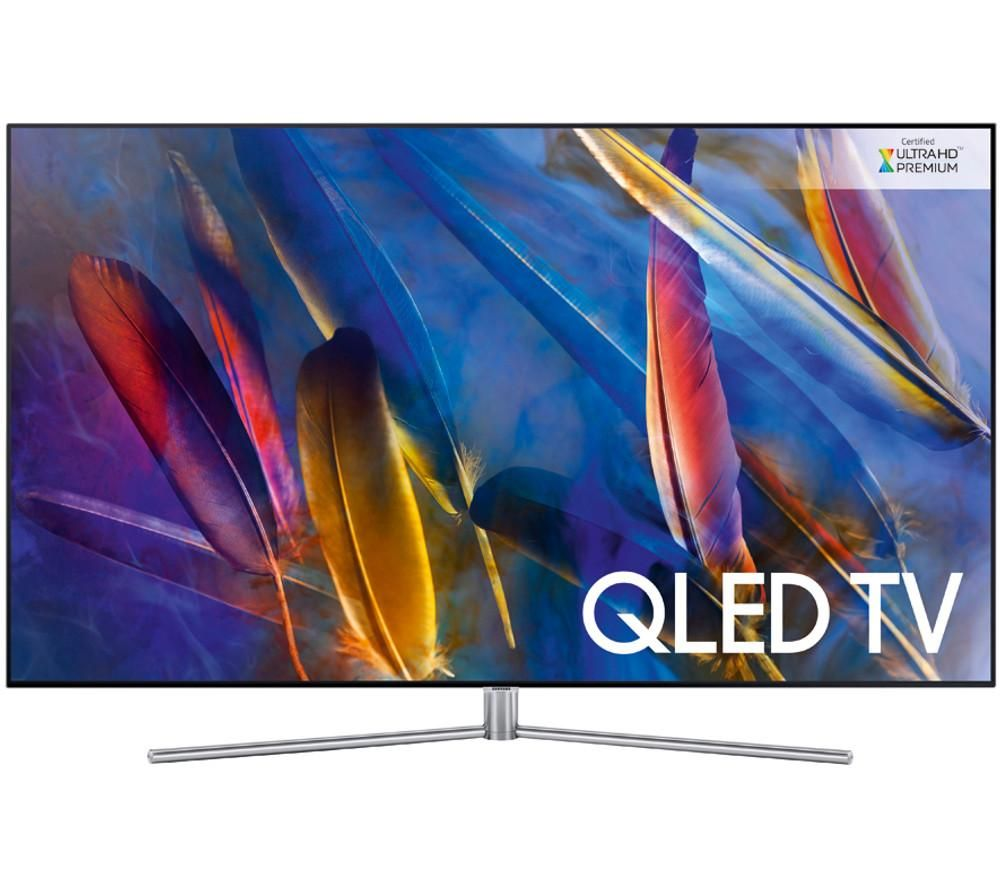 "SAMSUNG QE55Q7FAM 55"" Smart 4K Ultra HD HDR QLED TV + S1HDM315 HDMI Cable with Ethernet - 1 m"