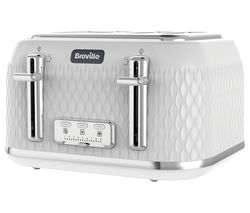 BREVILLE Curve VTT911 4-Slice Toaster - White & Chrome