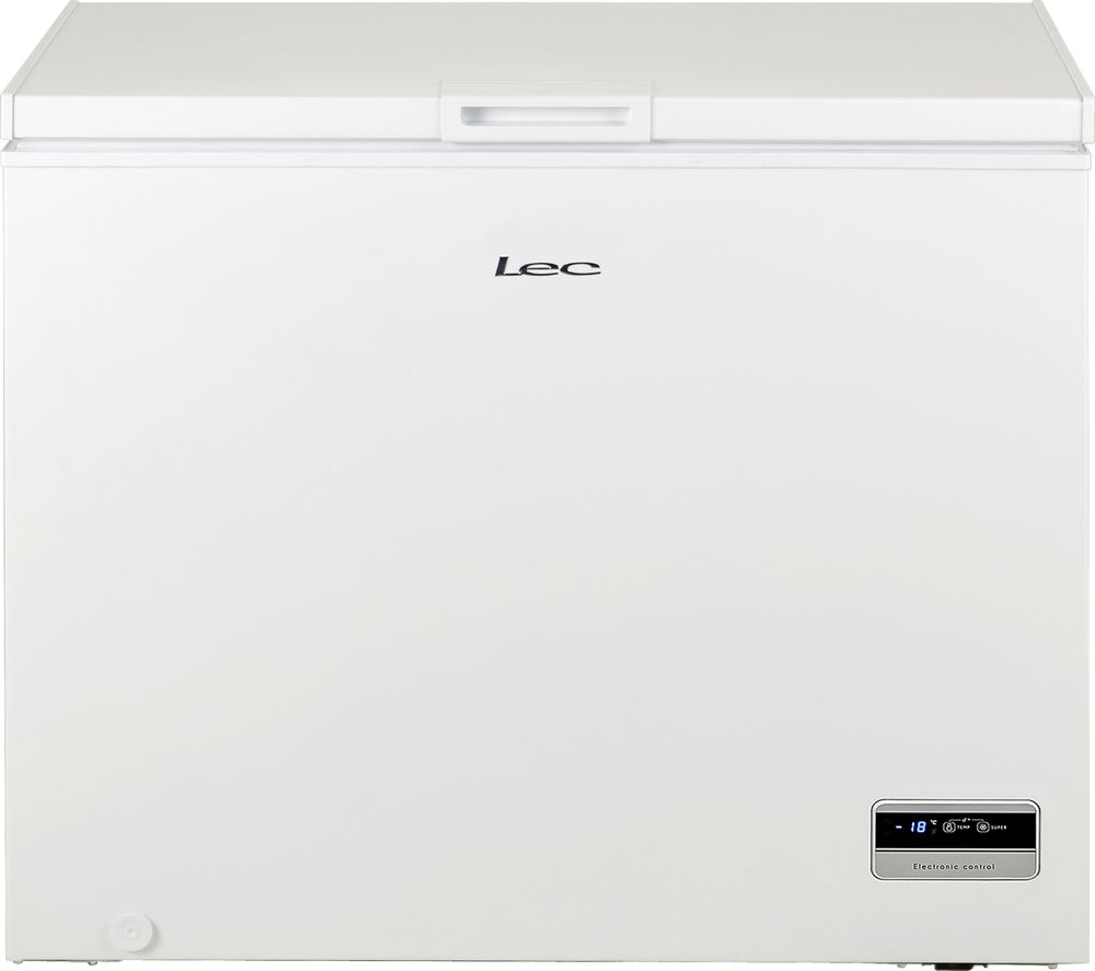 LEC CF250L Chest Freezer - White, White