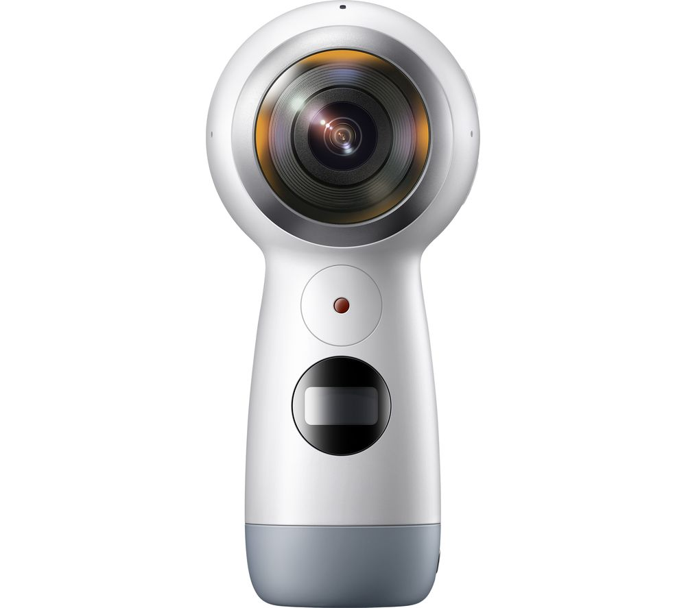 SAMSUNG Gear 360 (2017) 4K Ultra HD Action Camcorder - White + Ultra Performance Class 10 microSD Memory Card - 16 GB