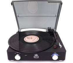 GPO Stylo II Turntable - Black