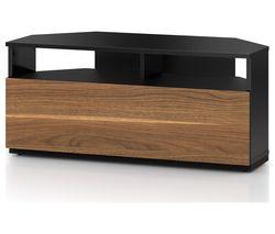 Troy TRD100 1000 mm CRN TV Stand - Black & Walnut