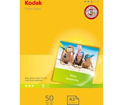 KODAK A3 Glossy Photo Paper - 50 sheets