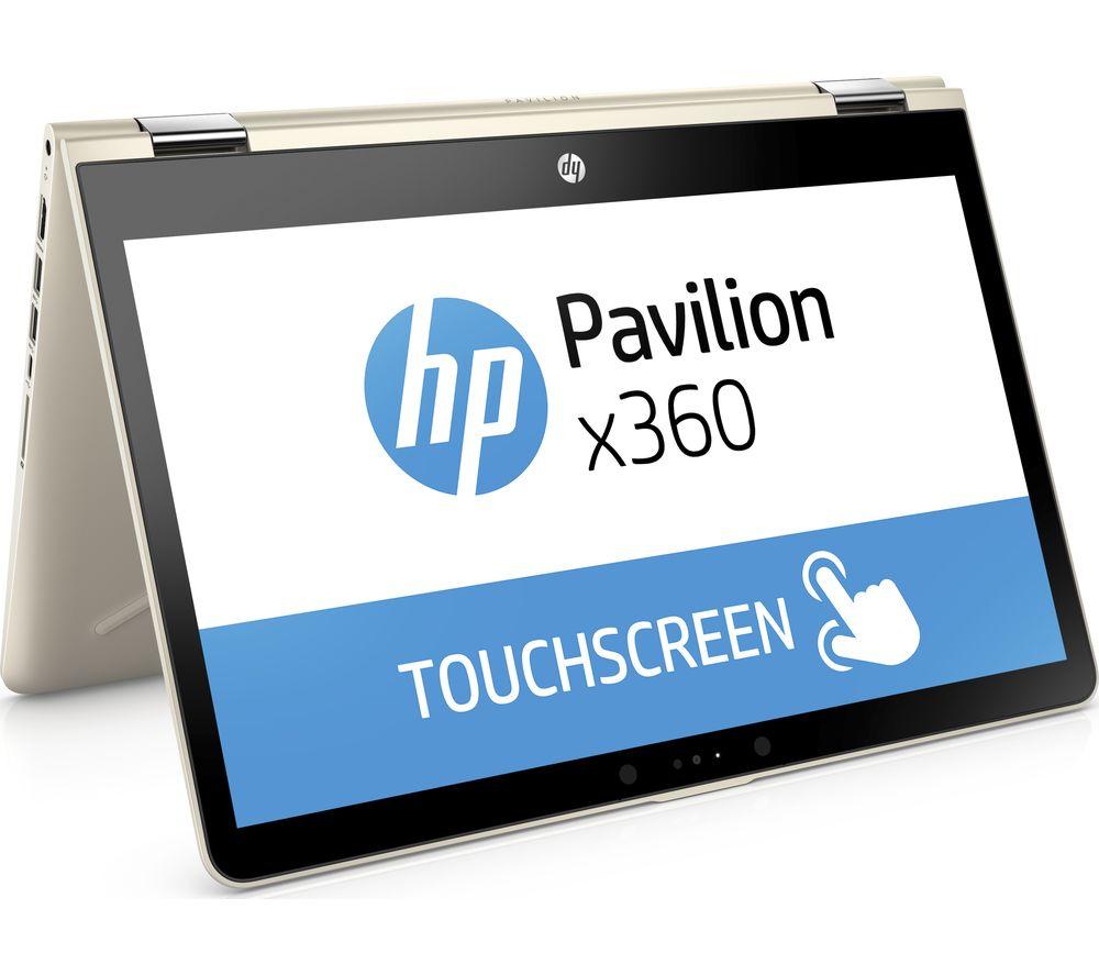 """HP Pavilion x360 14-ba048sa 14"""" 2 in 1 - Silk Gold, Gold"""