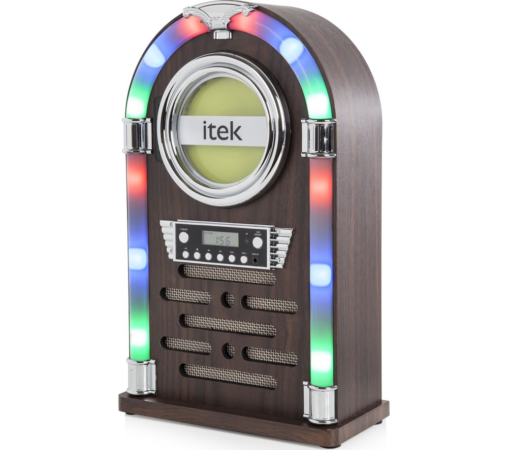 ITEK Jukebox I60018CD Wireless Hi-Fi System - Wood Finish