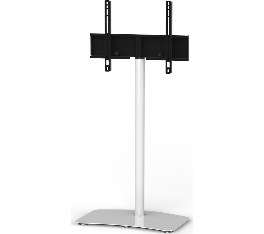 SONOROUS Contemporary PL2800-WHT 650 mm TV Stand with Bracket - White