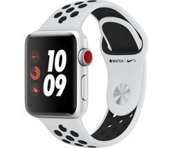 APPLE Watch Nike+ Series 3 Cellular - Silver, 38 mm