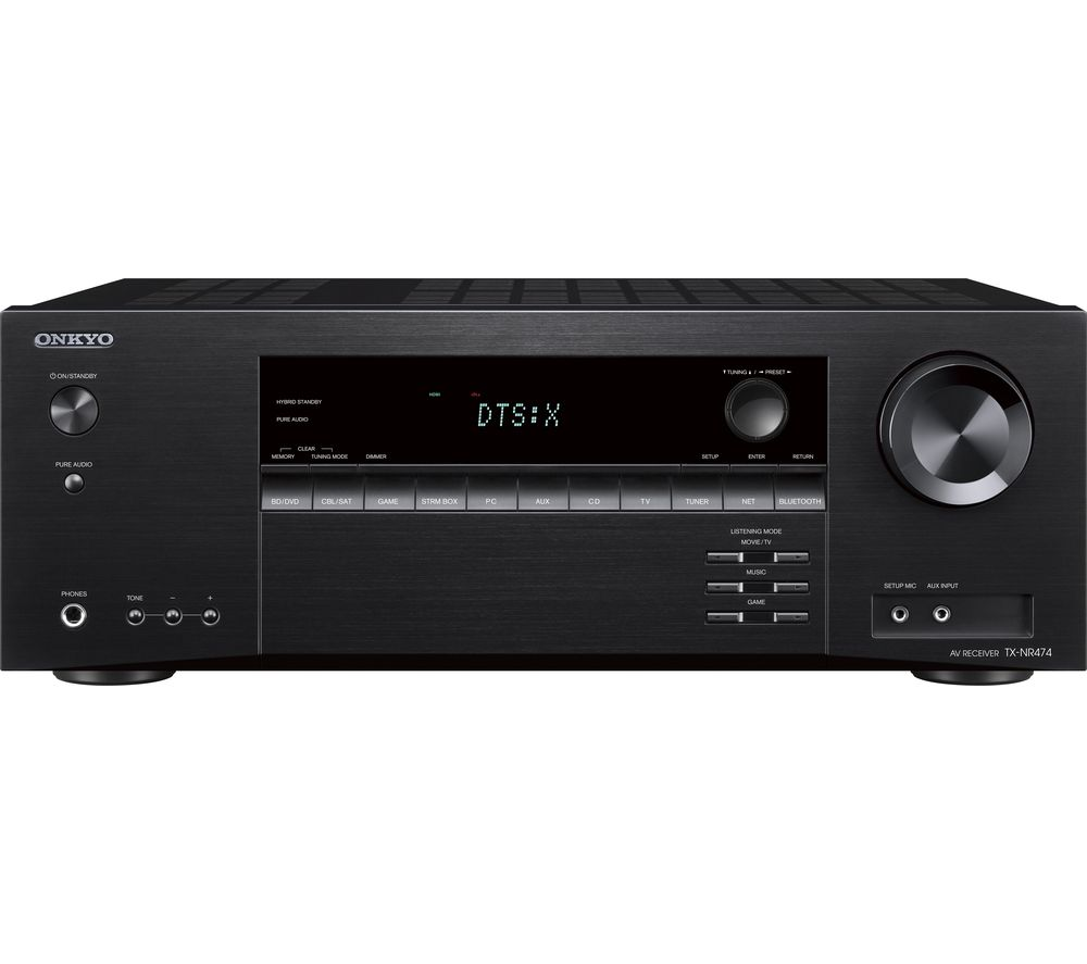 ONKYO TX-NR474 5.2 Wireless Network AV Receiver - Black