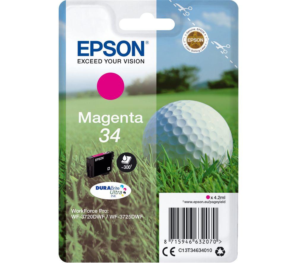 EPSON Golfball 34 Magenta Ink Cartridge, Magenta
