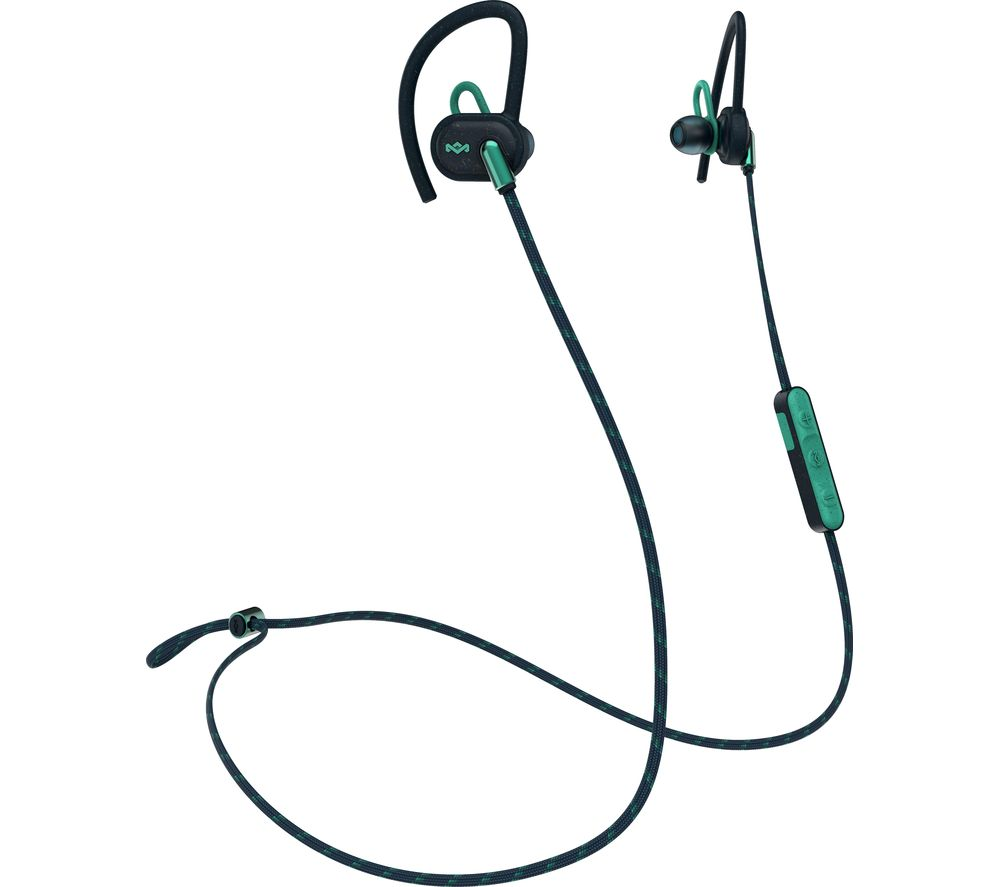 9ca373619c4 Buy HOUSE OF MARLEY Uprise EM-FE063-TE Wireless Bluetooth Headphones - Teal  | Free Delivery | Currys