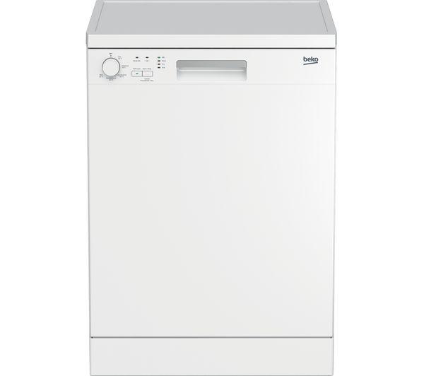 Image of BEKO DFN05X11W Full-size Dishwasher - White