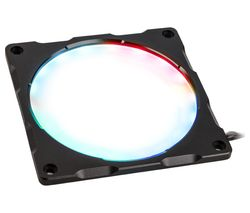 Halos Lux RGB LED Fan Frame - 120 mm, Aluminium Black