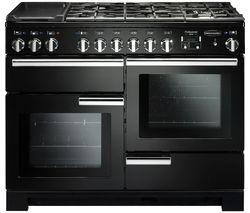 RANGEMASTER Professional Deluxe PDL110DFFGB/C 110 cm Dual Fuel Range Cooker - Black & Chrome