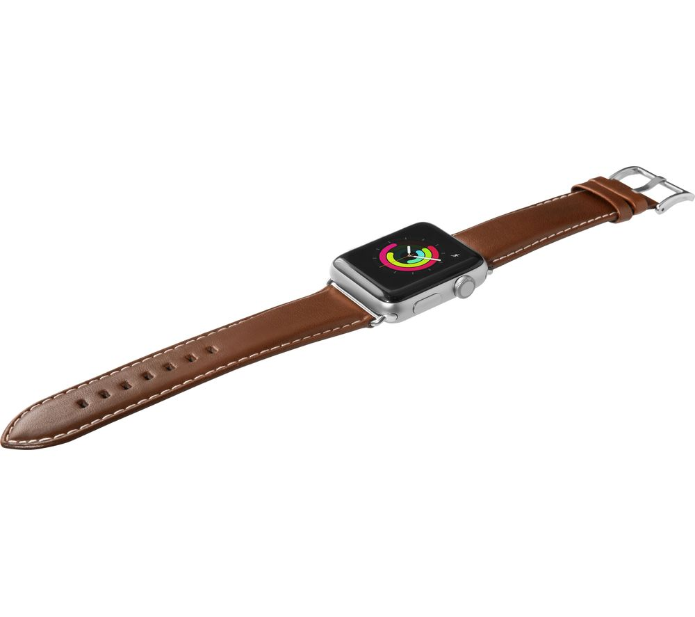 Image of LAUT Apple Watch 42 / 44 mm Oxford Leather Loop Strap - Tobacco, Small