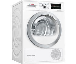 BOSCH Serie 6 WTW85493GB 8 kg Heat Pump Tumble Dryer - White