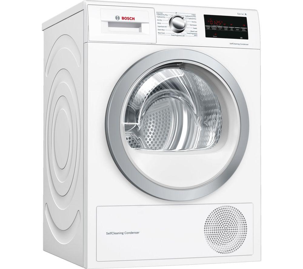 BOSCH Serie 6 WTW85493GB 8 kg Heat Pump Tumble Dryer - White