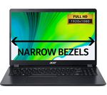 £349, ACER Aspire 3 A315-42 15.6inch AMD Ryzen 3 Laptop - 128 GB SSD, Black, Everyday: All-rounder for work and play, Windows 10, AMD Ryzen 3 3200U Processor, RAM: 4GB / Storage: 128GB SSD, Full HD display,