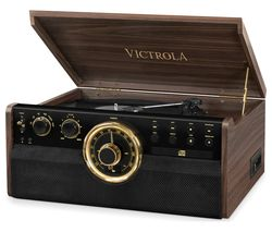 VICTROLA Empire VTA-270B 6-in-1 Belt Drive Bluetooth Music Centre - Mahogany