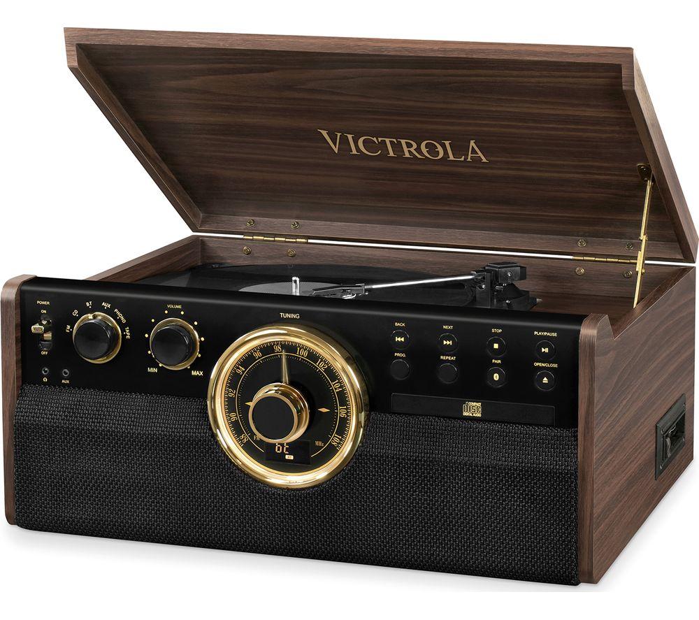 VICTORIA Empire VTA-270B 6-in-1 Belt Drive Bluetooth Music Centre - Mahogany