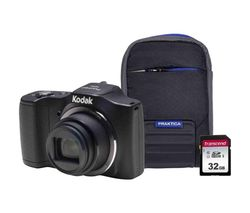 PIXPRO Friendly Zoom FZ152 Compact Camera Kit with 32 GB SD Card and Case - Black
