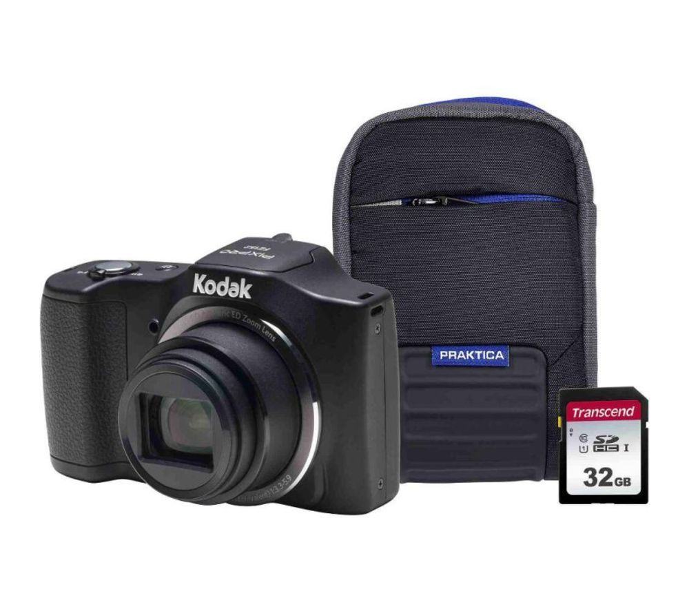 Click to view product details and reviews for Kodak Pixpro Friendly Zoom Fz152 Compact Camera Kit With 32 Gb Sd Card And Case Black Black.