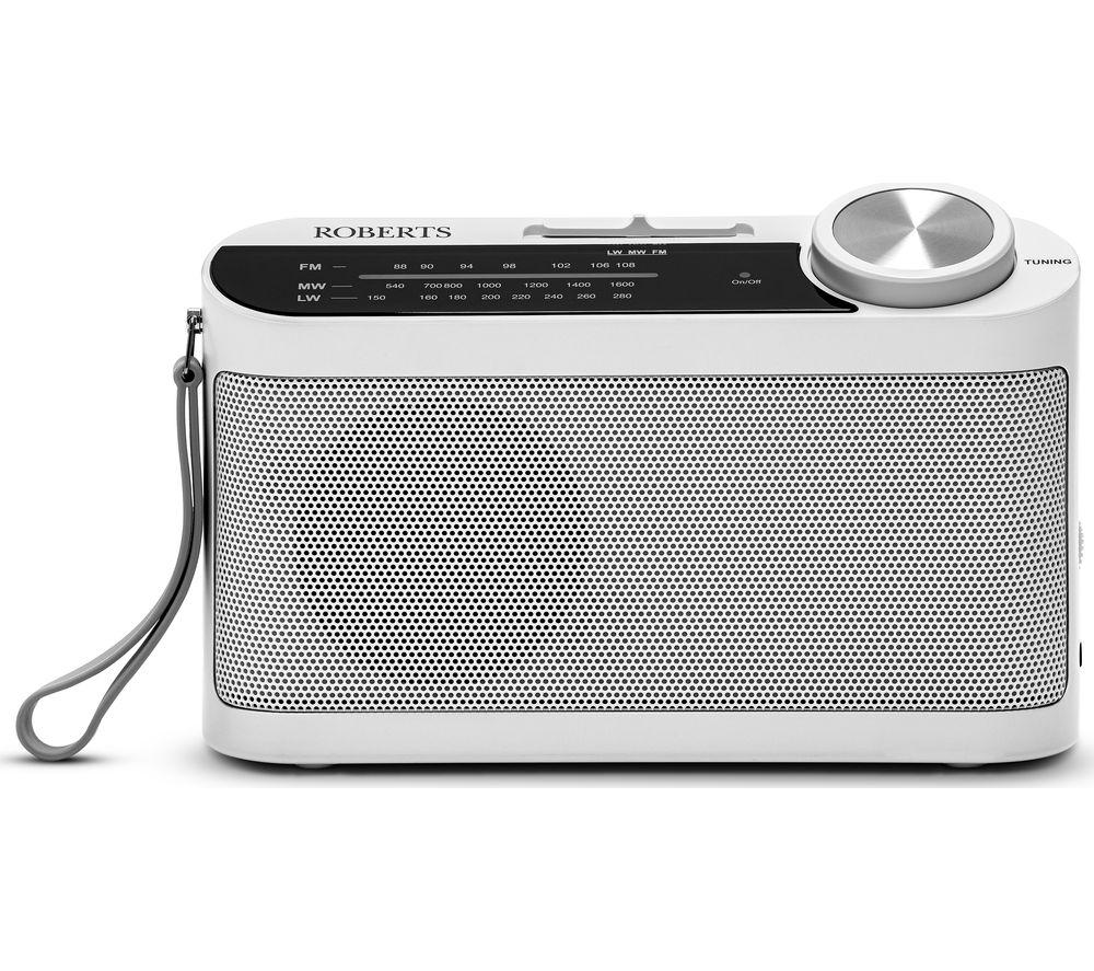 ROBERTS Classic 993 Portable FM/AM Radio - White