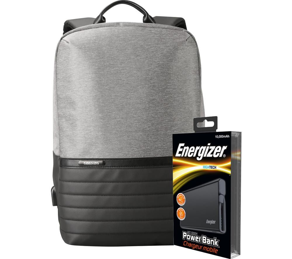 ENERGIZER EPB001 Backpack with Power Bank - Grey & Black