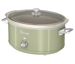 SWAN Retro SF17031GN Slow Cooker - Green Best Price, Cheapest Prices
