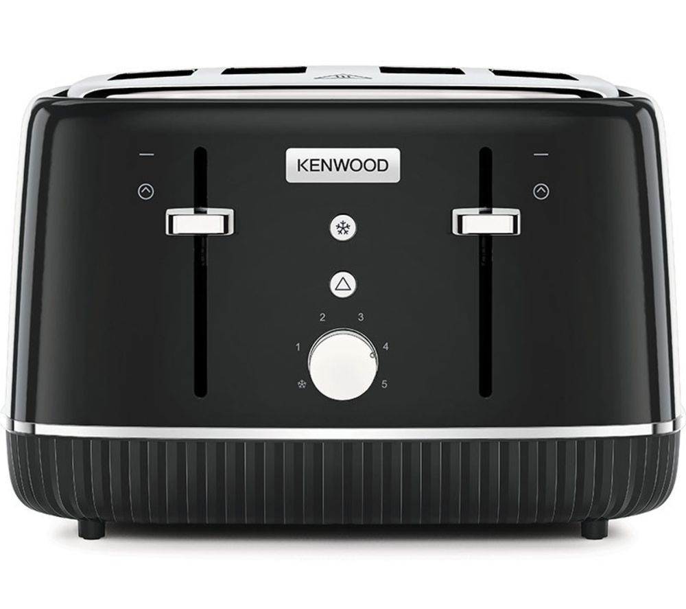 KENWOOD Elegancy TFP10.A0BK 4-Slice Toaster - Black, Black
