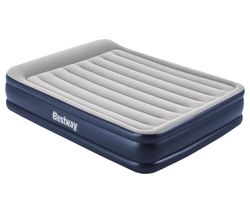 Tritech Inflatable Queen Airbed - Grey & Blue