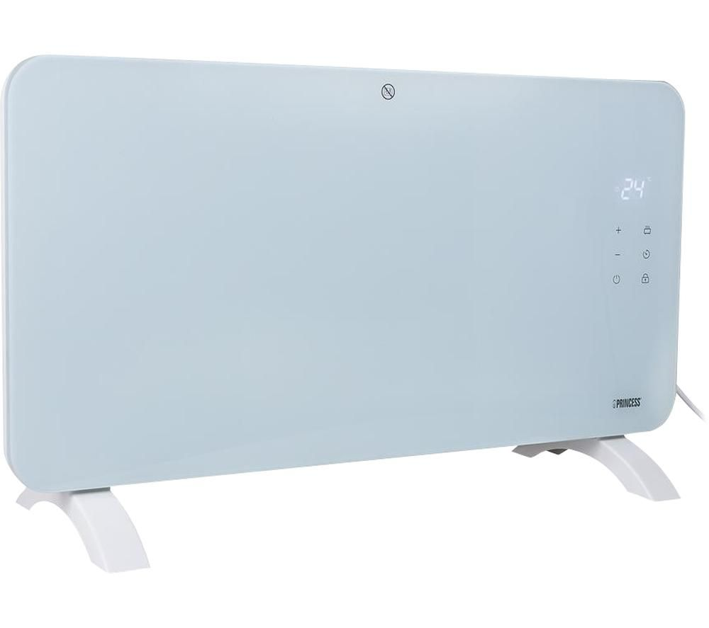 PRINCESS 341501 Smart Glass Panel Heater - White, White