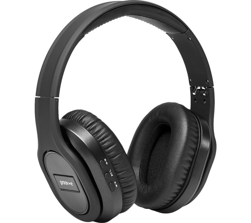 GROOV-E Elite GV-BT1000 Wireless Bluetooth Noise-Cancelling Headphones - Black
