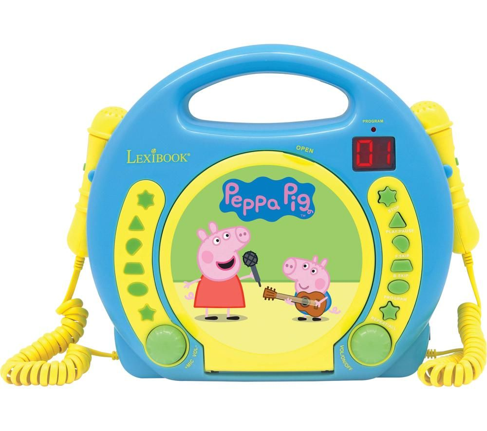 LEXIBOOK Peppa Pig CD Player with Microphones