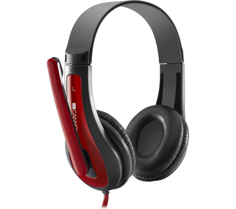 CANYON CNS-CHSC1BR Headset - Black & Red
