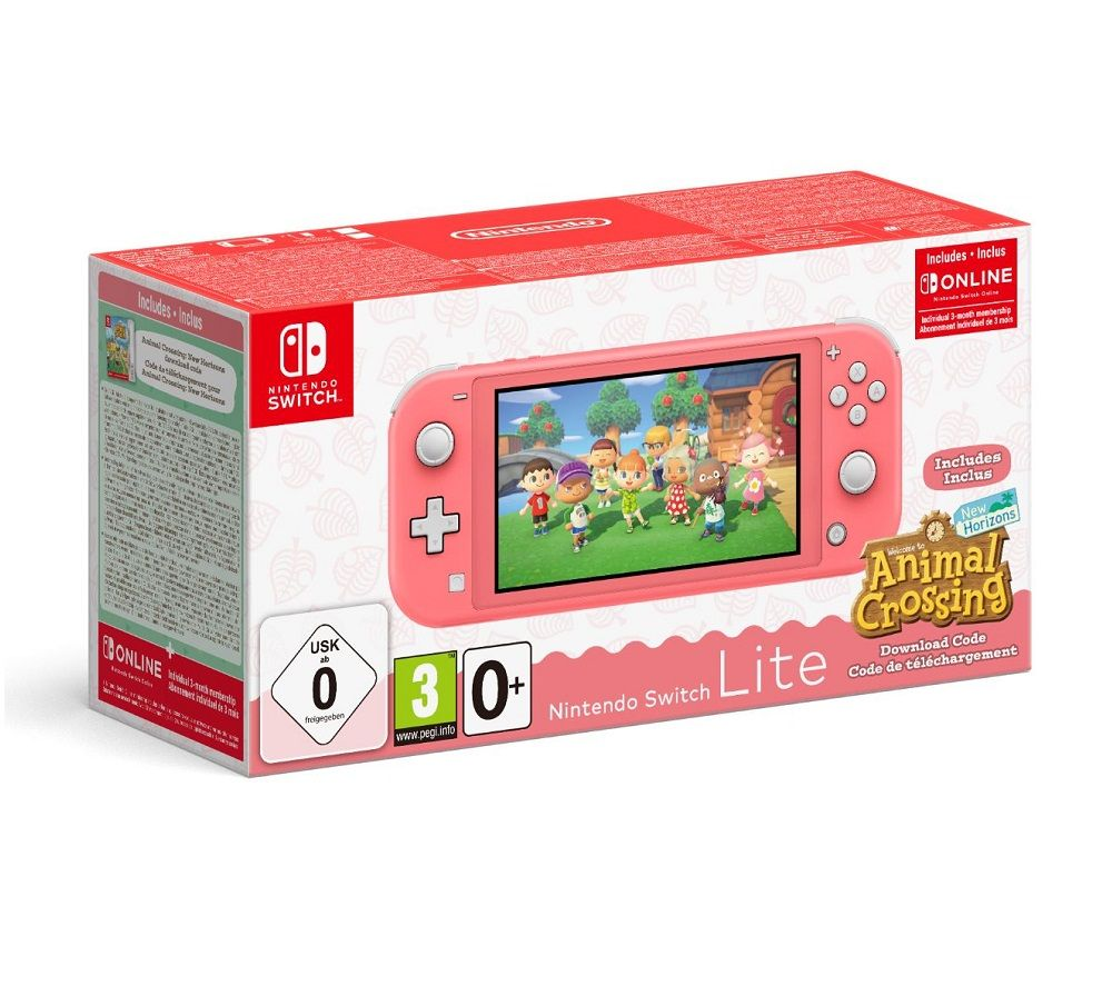 NINTENDO Switch Lite Coral & Animal Crossing: New Horizons Bundle