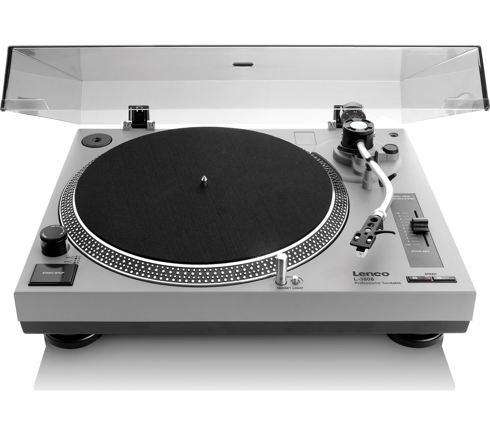 LENCO LS-3808 Direct Drive Turntable - Grey