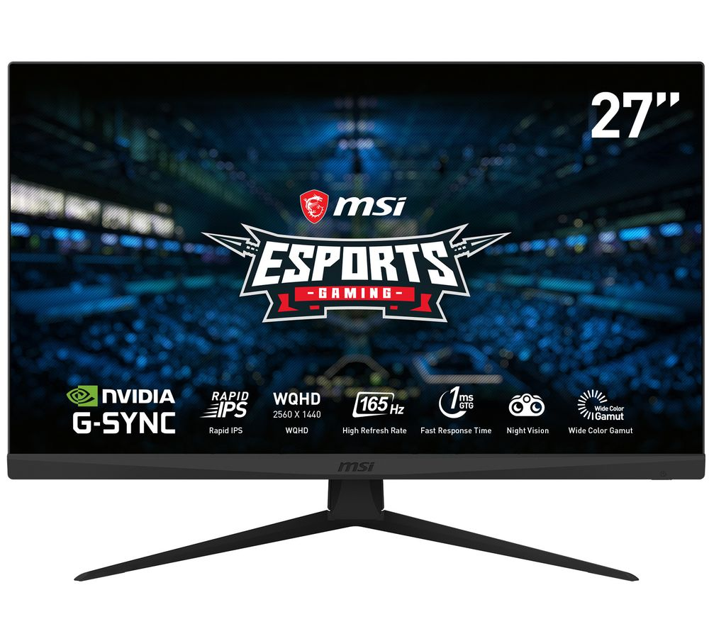 "Image of MSI Optix G273QF Quad HD 27"" IPS LCD Gaming Monitor - Black, Black"