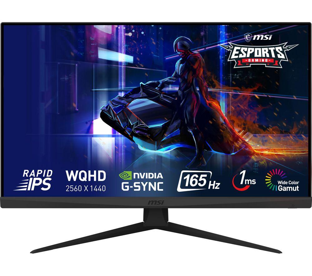 "MSI Optix G273QF Quad HD 27"" IPS LCD Gaming Monitor - Black"