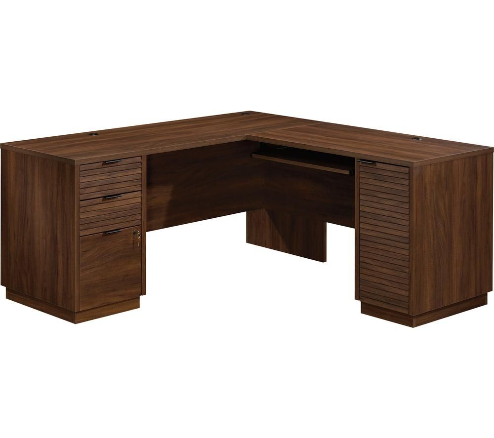 TEKNIK Elstree 5426914 L-Shaped Desk - Spiced Mahogany