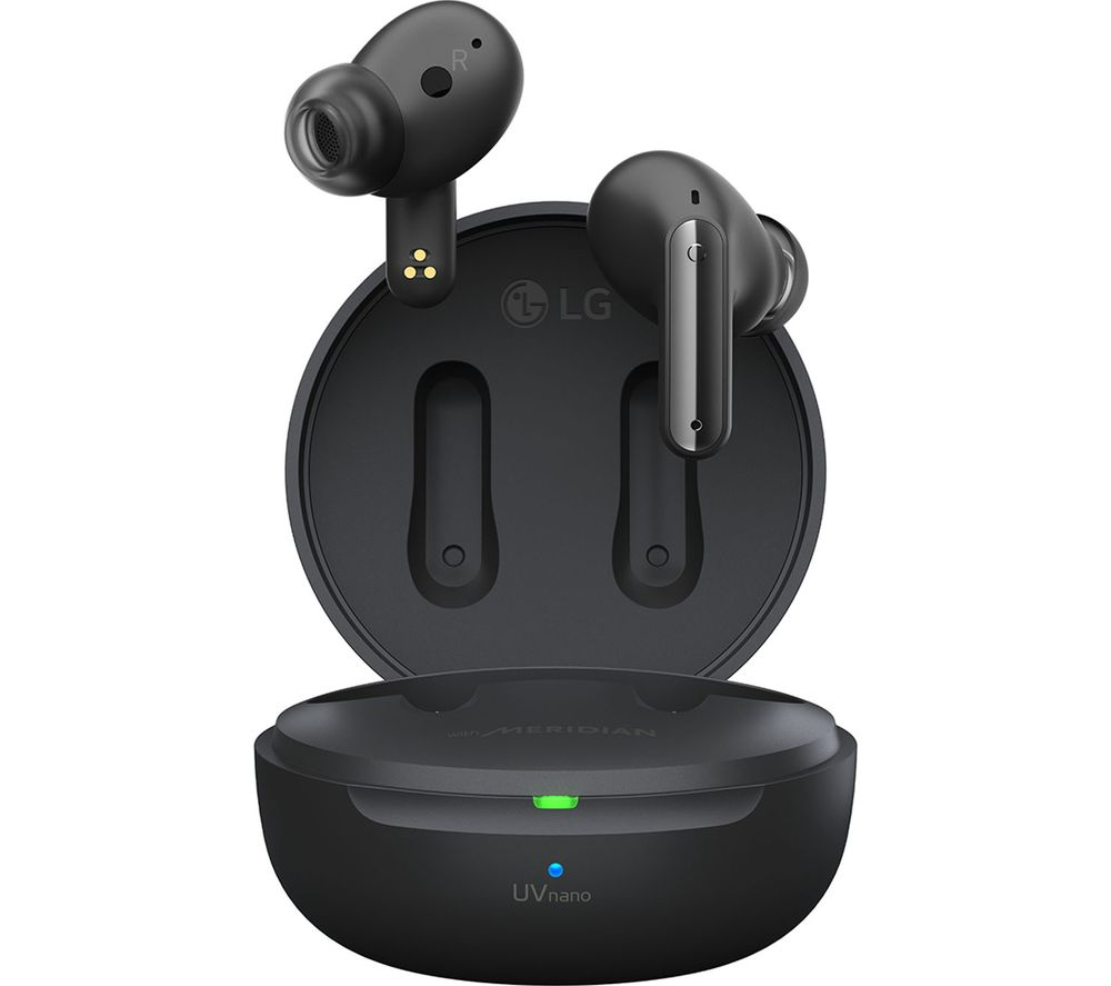 LG TONE Free UFP8 Wireless Bluetooth Noise-Cancelling Earbuds - Black