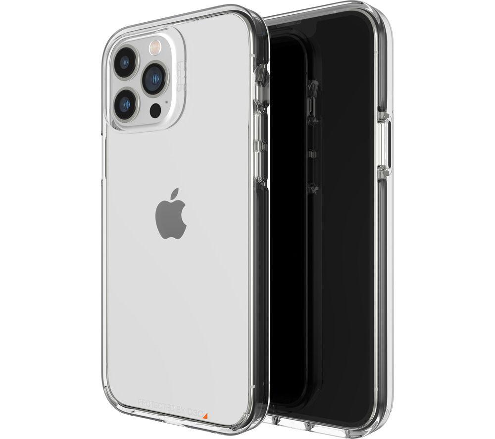 GEAR4 Santa Cruz iPhone 13 Pro Max Case - Clear & Black