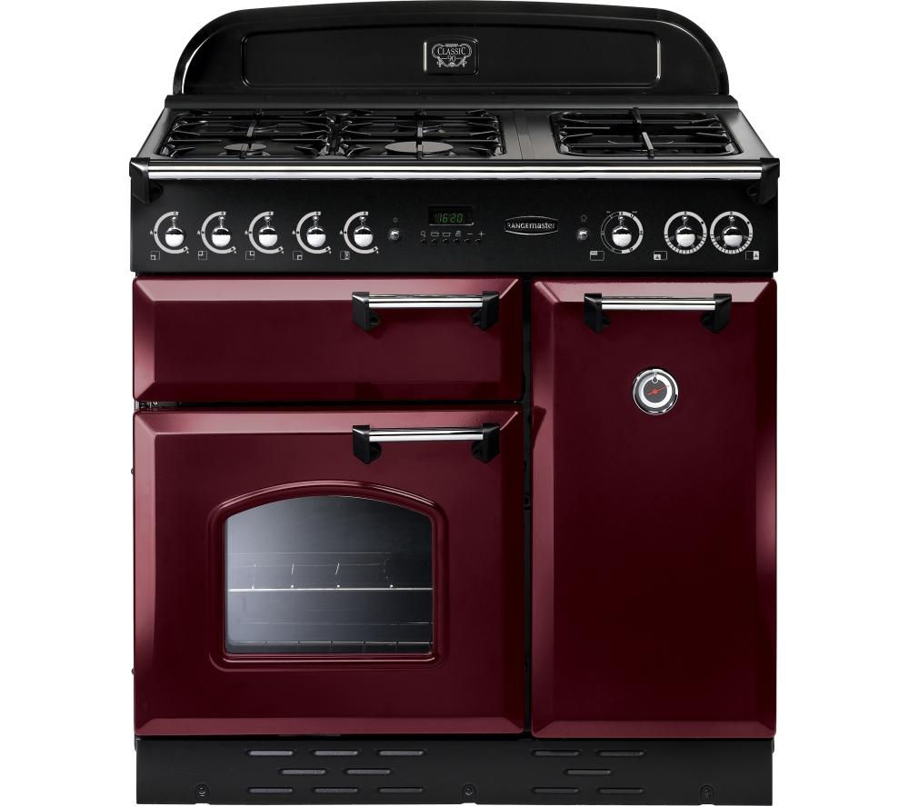 buy rangemaster classic 90 gas range cooker cranberry. Black Bedroom Furniture Sets. Home Design Ideas