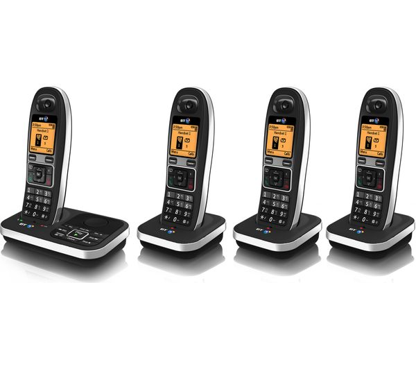 bt 7610 cordless phone with answering machine quad. Black Bedroom Furniture Sets. Home Design Ideas