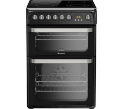 HOTPOINT HUE61K S Electric Ceramic Cooker - Black Best Price, Cheapest Prices