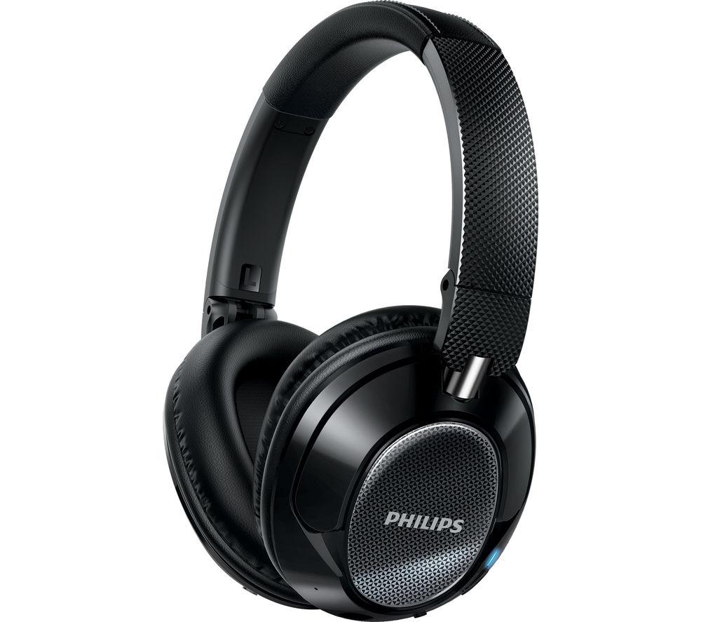 PHILIPS SHB9850NC/00 Wireless Bluetooth Noise-Cancelling Headphones - Black