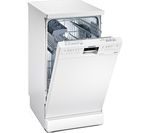 SIEMENS iQ500 SR26M231GB Slimline Dishwasher - White