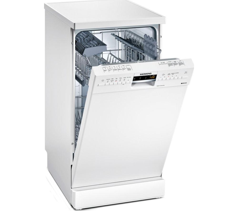 SIEMENS iQ500 SR26M231GB Slimline Dishwasher - White