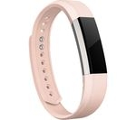 FITBIT Alta Leather Accessory Band - Blush Pink, Large